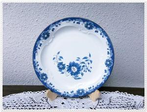 ★BASE特集掲載【旧東ドイツ/DDR】落ち着く青色のケーキ皿