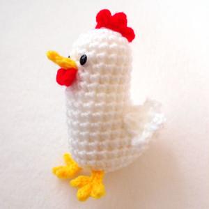 ニワトリのあみぐるみ 編み図