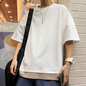 【メンズファッション】おすすめ 配色 切り替え シンプル 半袖 Tシャツ50945177