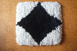 【佐藤さんのノッティング】◆◆手織りの椅子敷き★★2020.7.8★★NEW!
