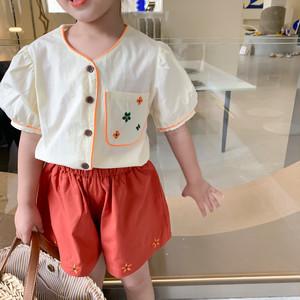 【夏物SALE】20%off【即納】刺繍セットアップ SS 春夏 韓国子供服