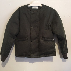 【UNITUS】Waxed Down Flight Jacket [D GREEN]