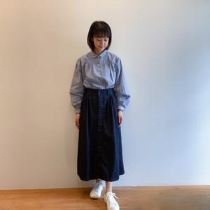 C-21654 Denim narrow tuck Skirt