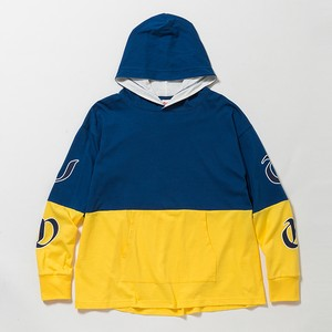 2-TONE L/S HOODIE - BLUE/YELLOW