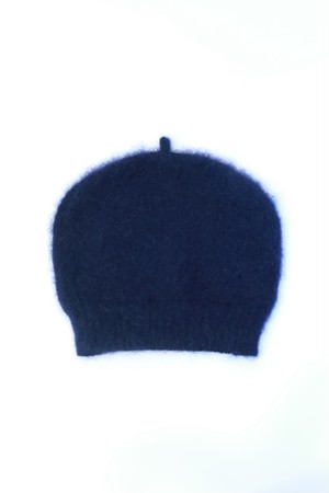 "MIND THE HAT ""Mohair Shaggy Cap ""(navy)"