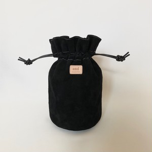 Mini Suede Drawstring Bag《black》