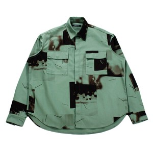 ALMOSTBLACK Khaki Print Shirt