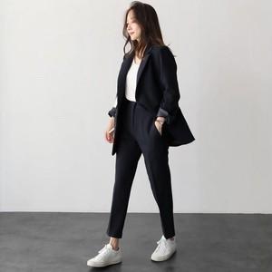 パンツスーツ ジャケット パンツ セットアップ 上下 オフィスカジュアル ファッションスーツ ワンボタン レディース 2019 春 新作 P2176