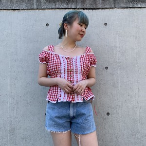 Tyrolese blouse (gingham  check)