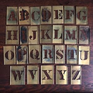 Vintage Brass Stencil Set