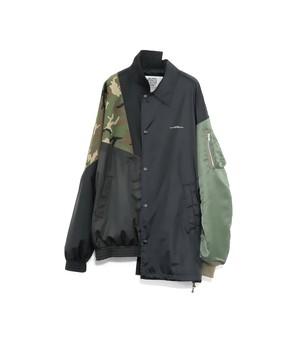 HYBRID JKT (A) -BLACK- / elephant TRIBAL fabrics