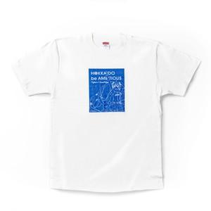 雪ミク×ファイターズ2021 Tシャツ 白/ラインアート