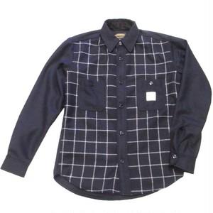 SEVENTY FOUR(セブンティーフォー) /  WOOL CRUISER SHIRT(STF17FW10)(ウールシャツ)