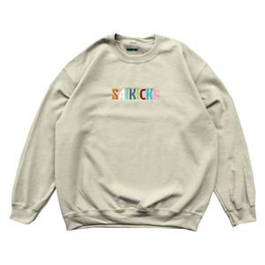 SAIKICKS EMB LOGO SWEAT PORT OKINAWA サイキック 刺繍 ロゴ トレーナー サンドカーキ