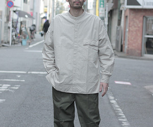 キャプテン サンシャイン/KAPTAIN SUNSHINE  FLY FRONT BAND COLLAR SHIRTS