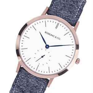 ROSSLING ロスリング MODERN 36MM Glencoe クオーツ ユニセックス 腕時計 RO-003-013 グレー/ホワイト ホワイト
