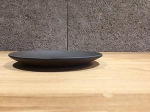 信楽焼 楕円皿 中(とび茶)