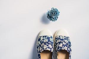 新作予約販売2月末まで特別価格 :スリッポン スタンダード 青と白の世界