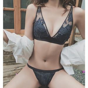 【goods】刺繍セクシー透かし彫り人気セート下着23685504