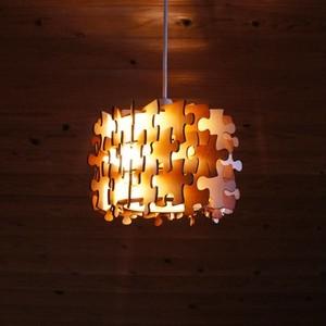 「パズル」木製ペンダントライト