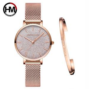 日本のムーブメントファッションカラーデザイン極薄メッシュバンド防水ブレスレットレディース腕時計ラグジュアリーレディースウォッチ1323WF2-SZA