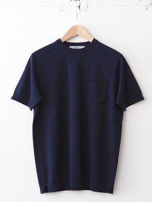 FUJITO C/N Pocket Knit Tee Navy,Pink,Top Gray,White