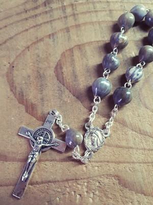 レア 「ヨブの涙」ミニロザリオ チャーム マザーテレサ キリスト 聖品 マリア
