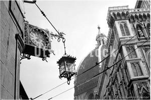 1957年撮影 イタリア フィレンツェ 大聖堂 時計【427195701】