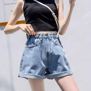 【ボトムス】無地ファッションカジュアルショートパンツ