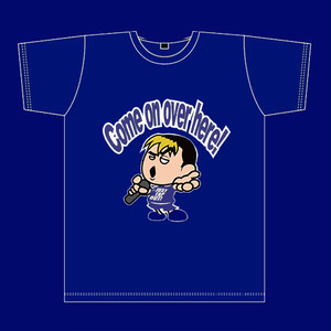 Come on over here! Tシャツ 青