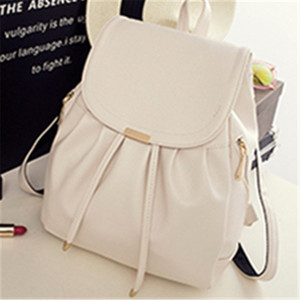 【bag】Female solid color  large capacity fashion student backpack