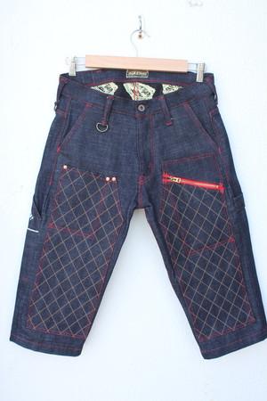 CROPPED-PANTS Type1(赤糸・ジップ)