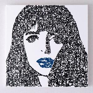 her blue lip