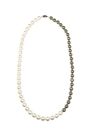 Combi Pearl Necklace | SILVER