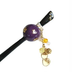 猫たま・かんざし(紫)1点物