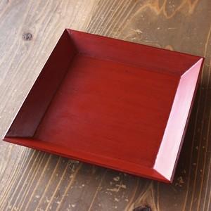 カモシカの漆の角皿