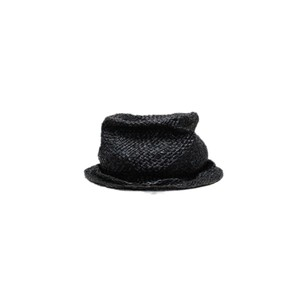 【Your Hat Number】No.162 Straw hat  (black melange)