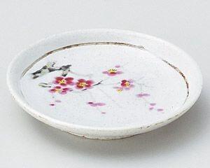 【半額セール】罫書紅梅3.3皿【美濃焼】