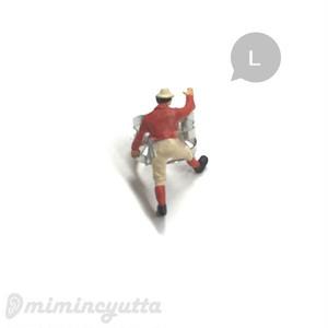 あなたの耳をよじ登ります♪ボルダリングイヤーカフ~登山シリーズ~レッド