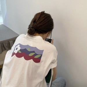 SimpleプリントTシャツ