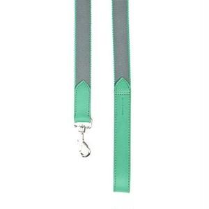 Dog lead 犬 リード Grey x green  114x3cm