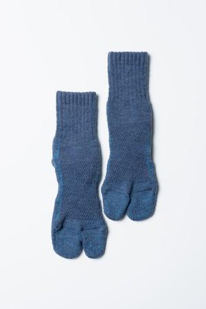 84N Wool Socks(Indigo × Blue)