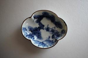 萠窯|木瓜豆皿 (松竹梅)