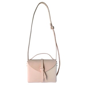 2way mini  box bag #beige / 2way ミニ レザーボックスバッグ #ベージュ