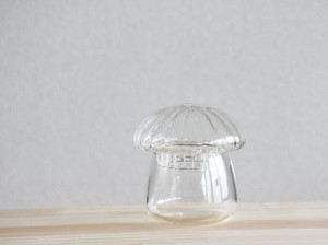 【ガラス容器】きのこ瓶(直径60mm x h80mm)