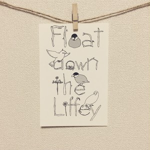 Float down the Liffey『文鳥ポストカード』