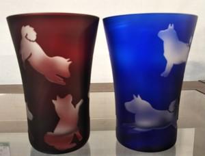 タンブラーペア(赤&瑠璃)しば犬