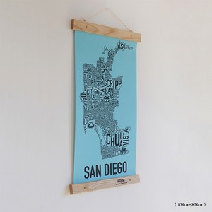 Wood Frame & Poster : 木製フレーム&ポスター W36cm×H76cm
