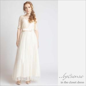(結婚式二次会ウェディング)ロングドレス 01 Sサイズ~XLサイズ