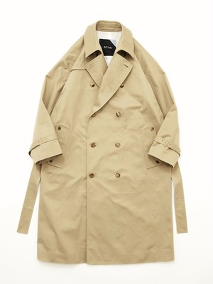 ATON WEST POINT OVERSIZED TRENCH COAT Beige CMAGIM0001